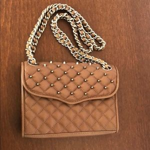 Rebecca Minkoff Brown Leather Studded Bag